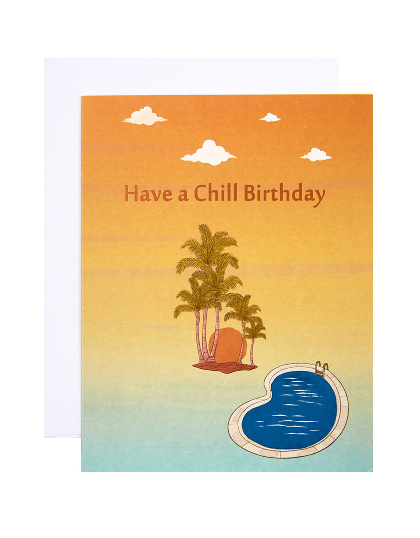 Michael Roger Palm Springs Birthday Card by Michael Roger