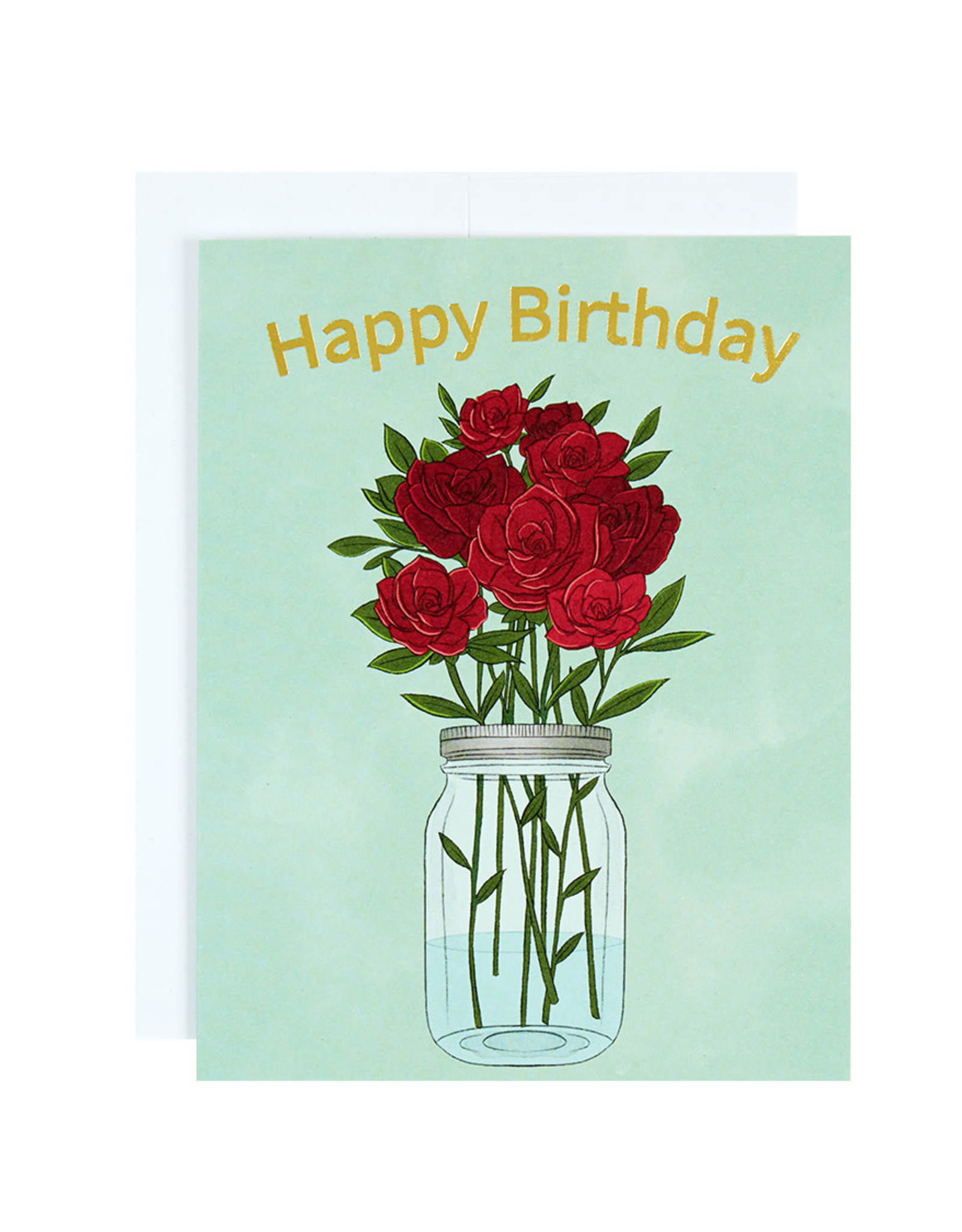 Michael Roger Roses Birthday Card by Michael Roger