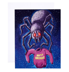 Michael Roger Spidey Birthday Card by Michael Roger