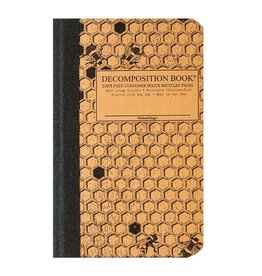 Michael Roger Decomposition Notebook Sewn Pocket Sized Honeycomb