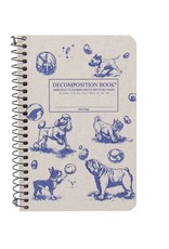 Michael Roger Decomposition Notebook Spiral Bound Pocket Sized Dogs and Bubbles