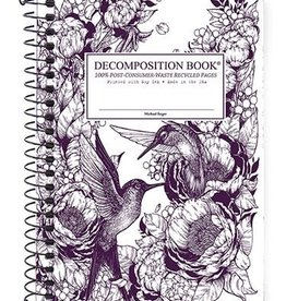 Michael Roger Decomposition Notebook Spiral Bound Pocket Sized Hummingbirds