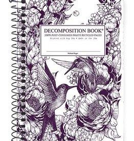 Michael Roger Decomposition Notebook Spiral Bound Pocket Sized Hummingbirds