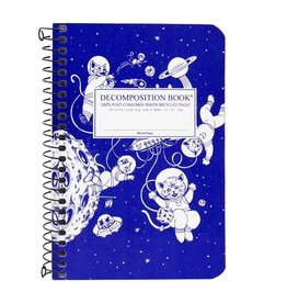 Michael Roger Decomposition Notebook Spiral Bound Pocket Sized Kittens in Space