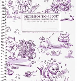Michael Roger Decomposition Notebook Spiral Bound Costume Cats