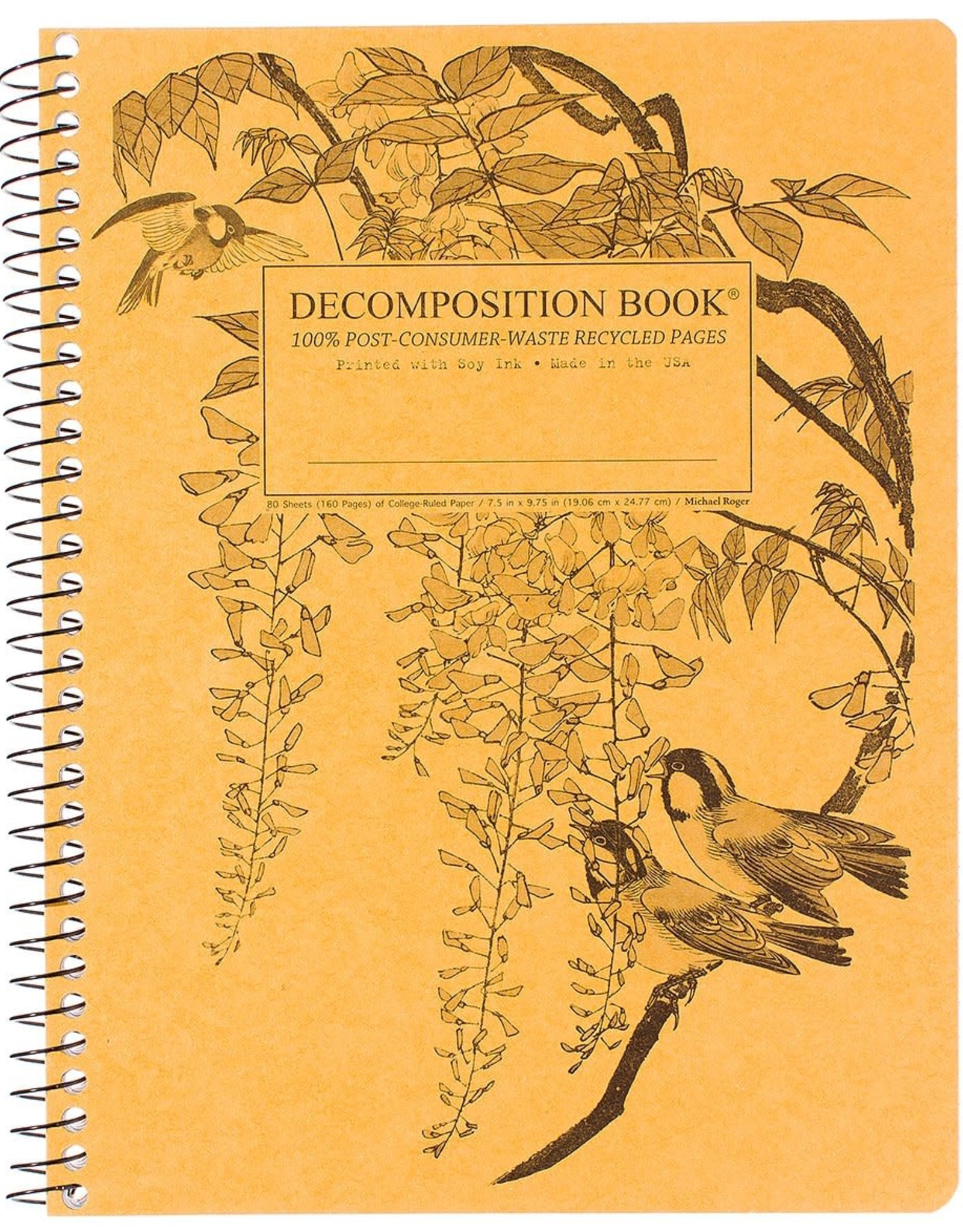 Michael Roger Decomposition Notebook Spiral Bound Leafy Perch