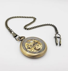 IGNY Skeleton New York Mechanical Pocket Watch