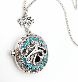 Octopus Locket Long Necklace