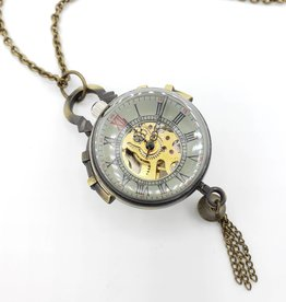 IGNY Vintage style Glass Ball Pendant Watch Necklace