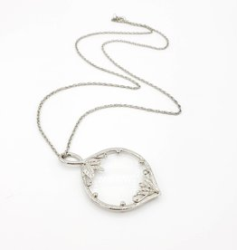 IGNY Magnifying Glass Necklace, silvertone