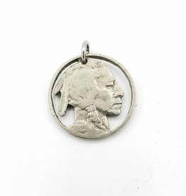 Lazy Cat Cut Coins Hand-cut Coin Pendant - Indian nickel