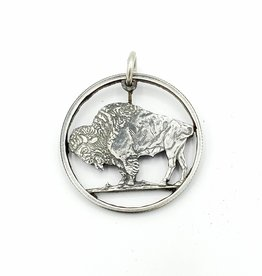 Lazy Cat Cut Coins Hand-cut Coin Pendant - Buffalo quarter