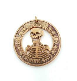 Lazy Cat Cut Coins Hand-cut Coin Pendant - Memento mori-copper