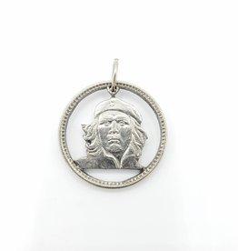 Lazy Cat Cut Coins Hand-cut Coin Pendant - Che Guevara