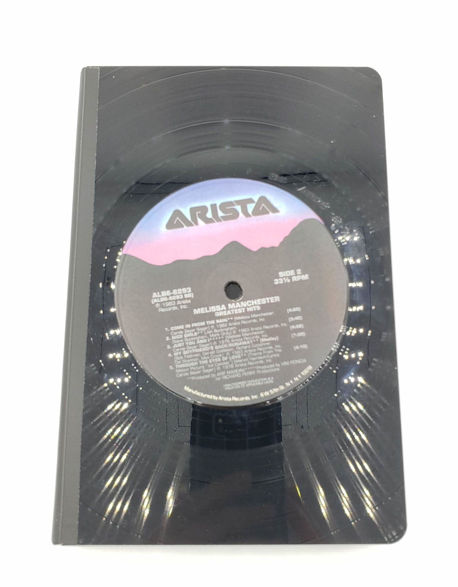 Melissa Manchester Vintage Vinyl Journal, Large - Vinylux