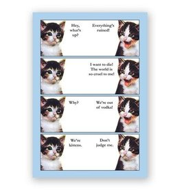 Mincing Mockingbird Vodka Kittens Hardcover Notebook by Mincing Mockingbird