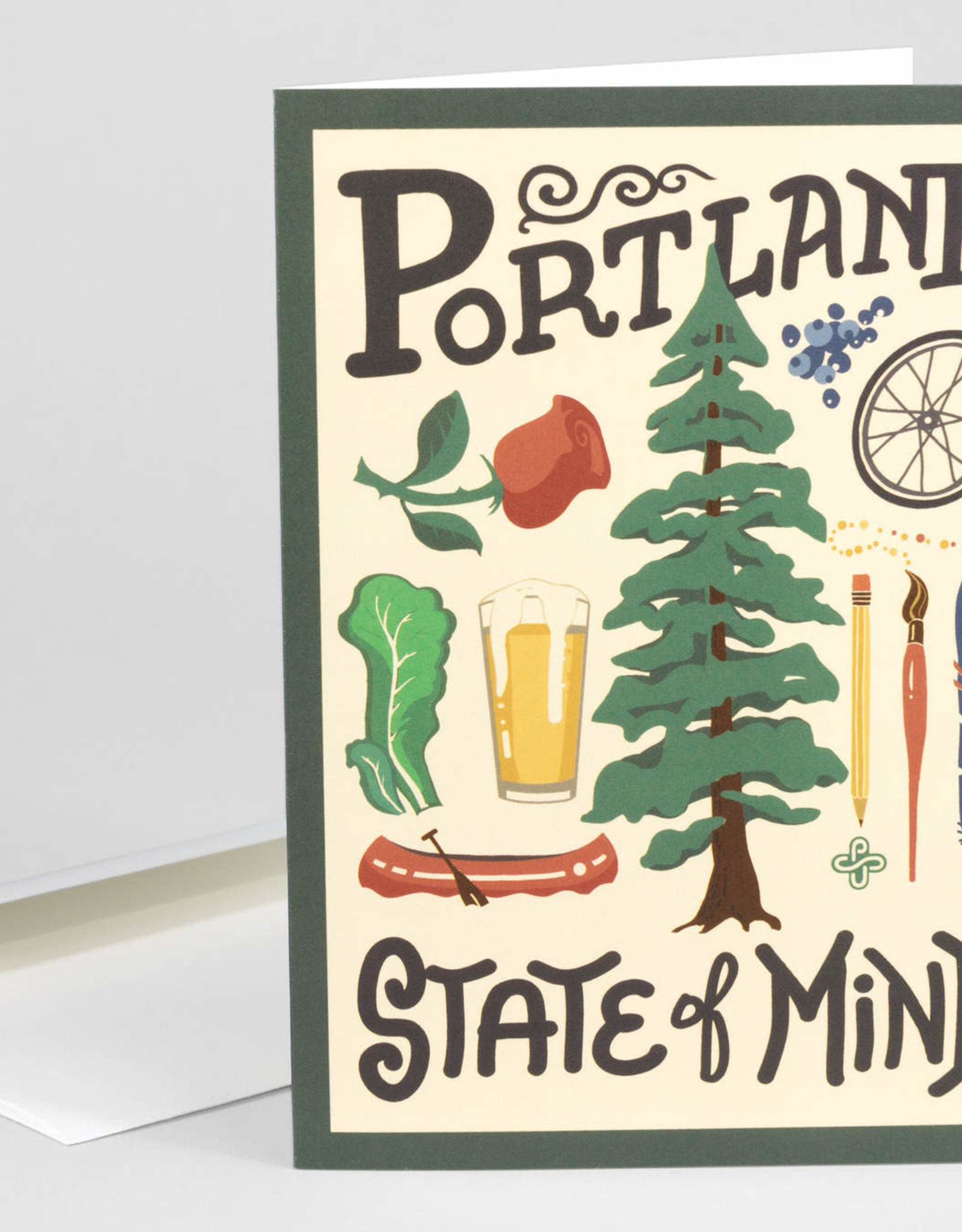 """Portland State of Mind"" Greeting Card - Victory Garden of Tomorrow"