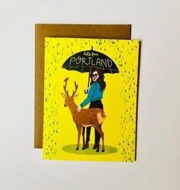 """Hello From Portland"" Greeting Card - Christa Pierce"