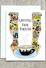 """Greetings From Portland"" Greeting Card - Little Truths Studio"