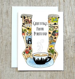 "Allison Cole ""Greetings From Portland"" Greeting Card - Little Truths Studio"