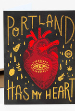 """Portland Has My Heart"" Greeting Card - Christa Pierce"