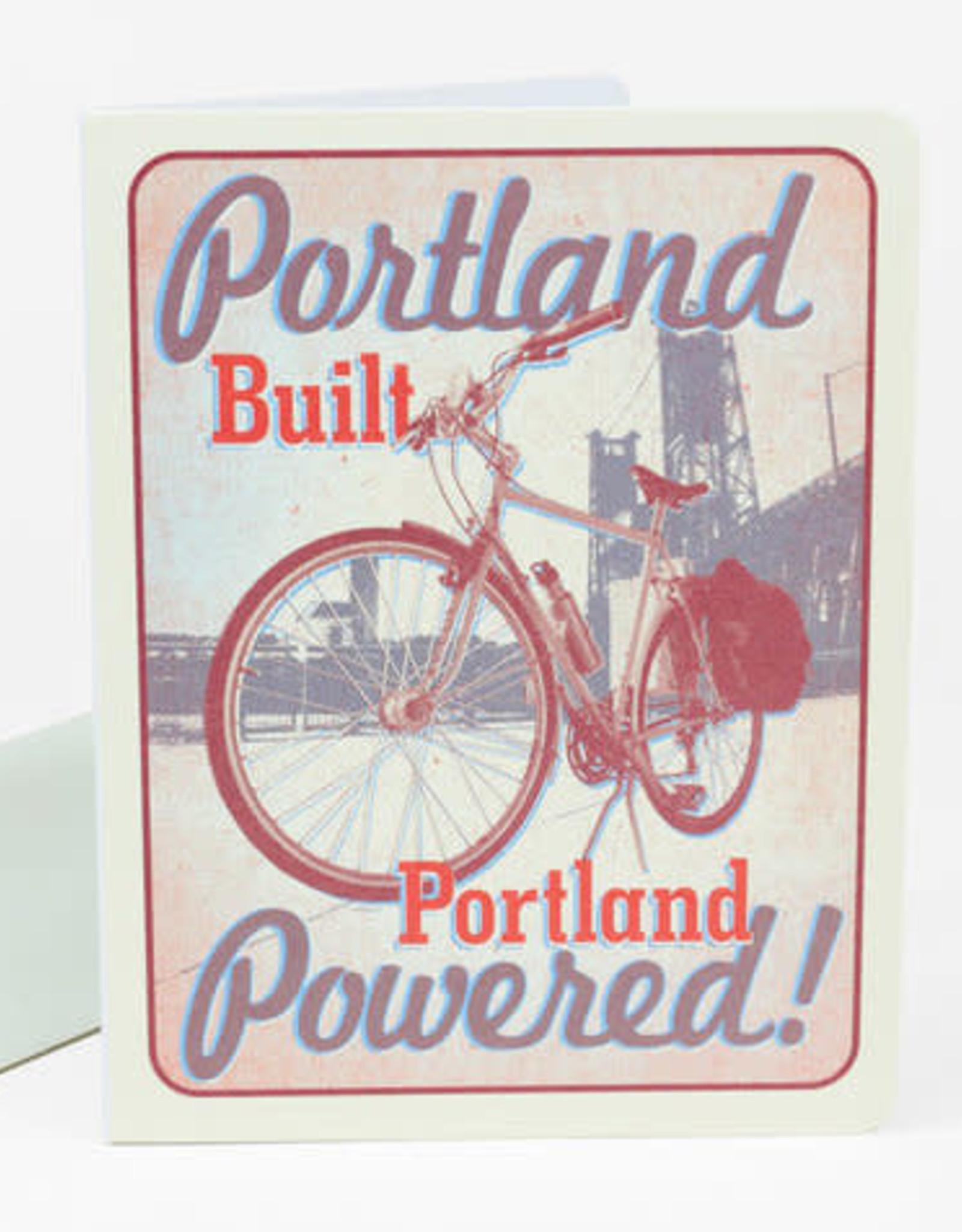"""Portland Built Portland Powered"" Greeting Card - Stumptown Printers"