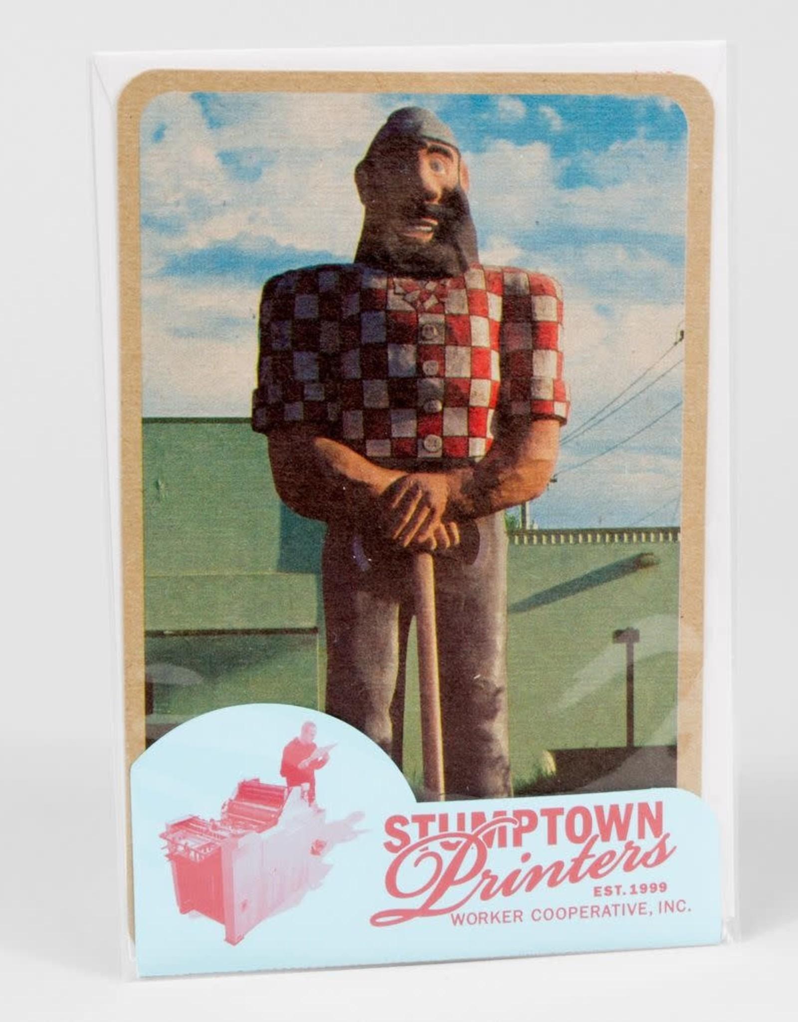 """""""Paul Bunyan"""" Greeting Card - Stumptown Printers"""