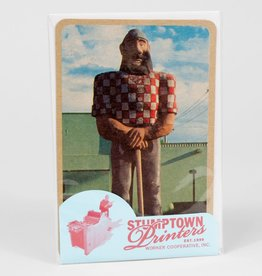 """Paul Bunyan"" Greeting Card - Stumptown Printers"