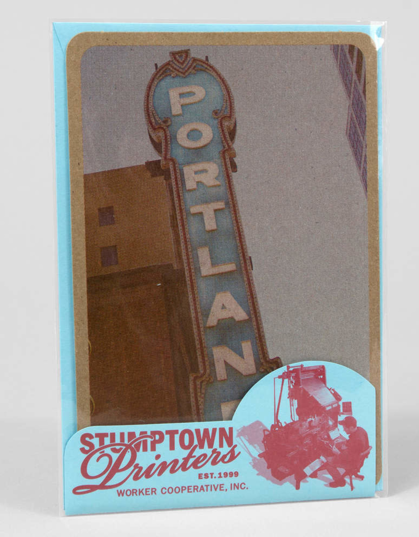 """Portland Sign"" Greeting Card - Stumptown Printers"