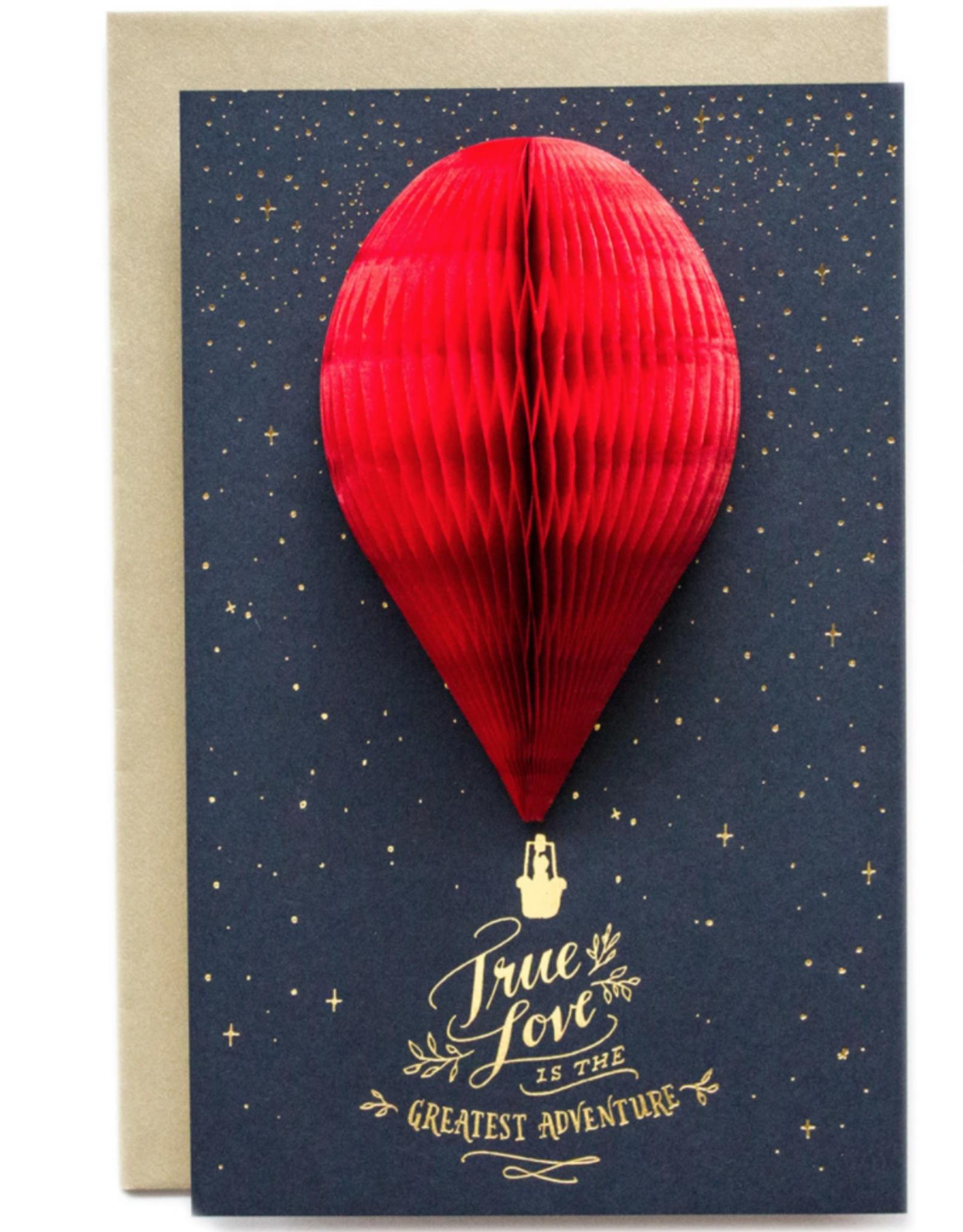 Greeting Card 3-D True Love Balloon - Ladyfingers