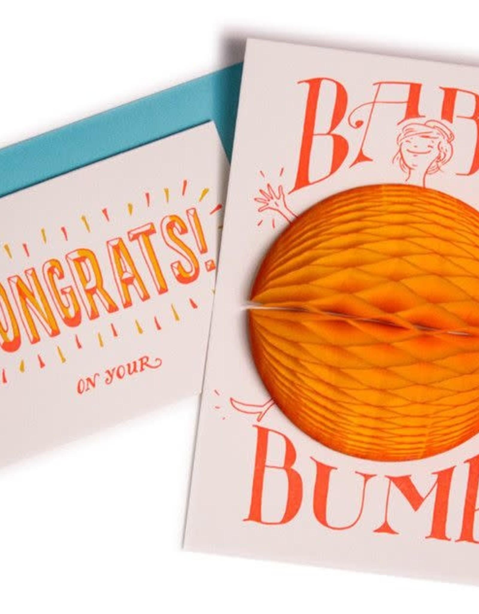 Greeting Card 3-D Baby Bump - Ladyfingers