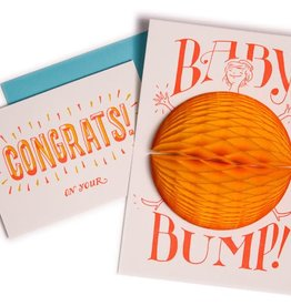 Greeting Card 3-D Baby Bump - Ladyfingers