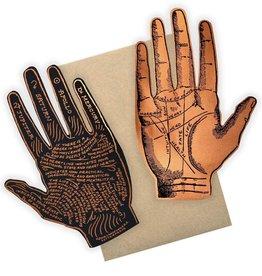 Greeting Card Palmistry Die-cut Hand - Ladyfingers
