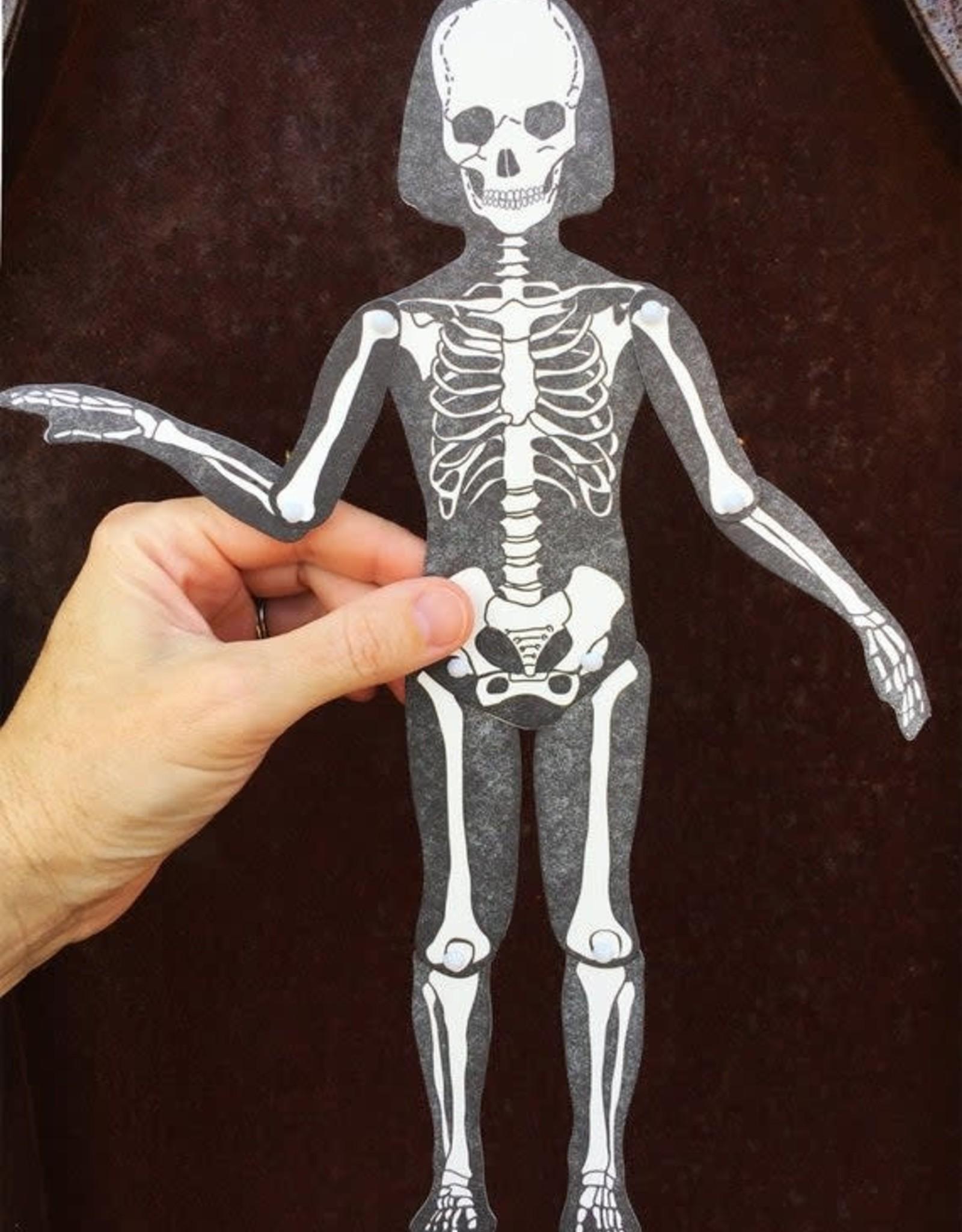 Letterpress Moveable Skeleton - Large Articulating Paper Figure