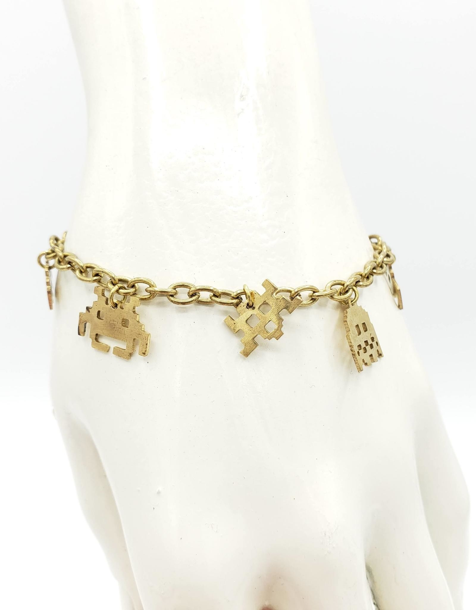Monserat de Lucca Space Invaders Bracelet lasercut brass