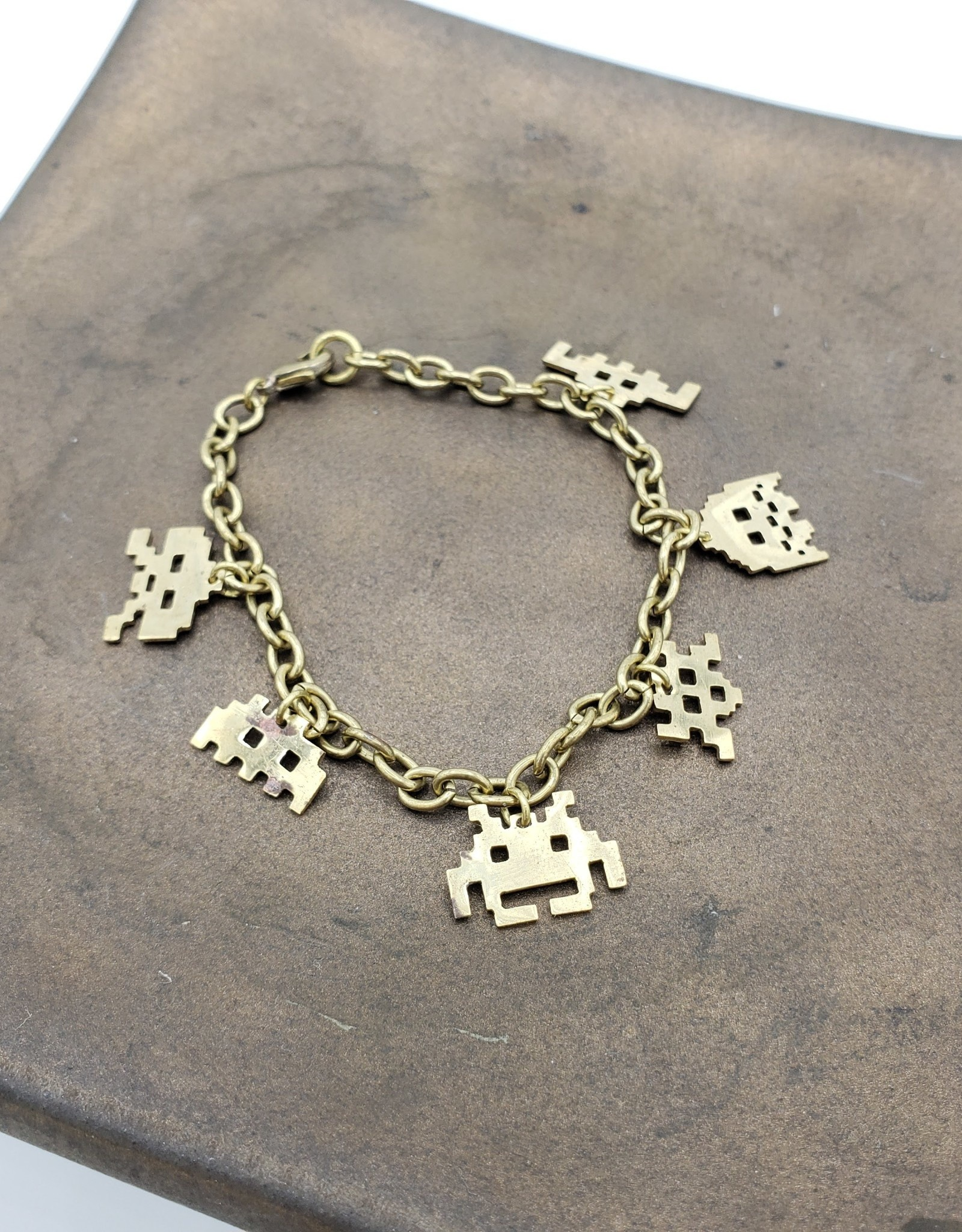 Monserat de Lucca Space Invaders Bracelet lasercut brass
