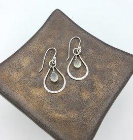 Peter James Jewelry Rose Quartz Sterling Silver Teardrop Earrings