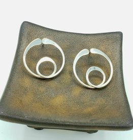 Round Loop-di-loop Post Earring, Sterling Silver