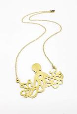 Monserat de Lucca Brass Octopus Necklace