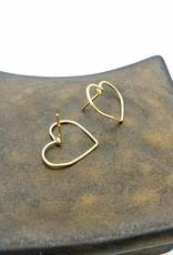 Redux Big Love Heart Hoop Earrings- 14K Gold Fill