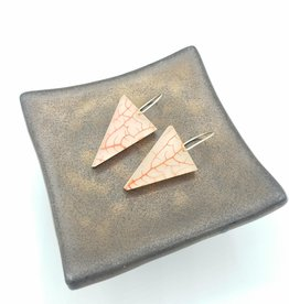 Fernworks Red Sea Fan Triangle Resin Earrings by Fernworks