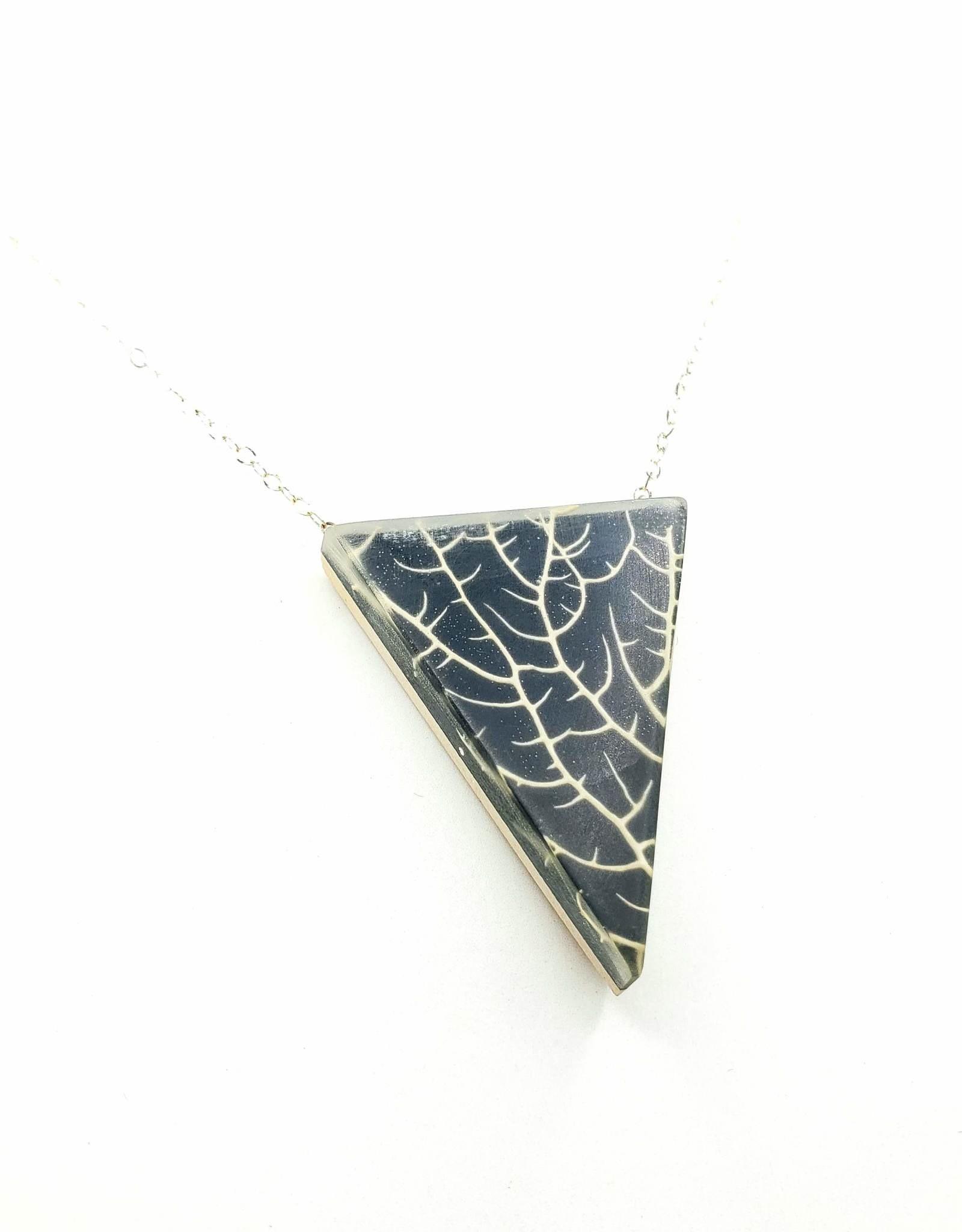 Fernworks Black Sea Fan Coral Resin Necklace by Fernworks