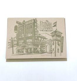 """Marquees of Portland"" Greeting Card - Beth Kirschen"