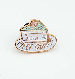 "Happy Birthday ""Piece Out'' Tiny Enamel Pin - Egg Press"