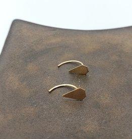 Annika Inez Triangle Threaded Stud Earrings - Gold Fill