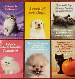 Postcard Set Social Justice Kittens - Sean Tejaratchi