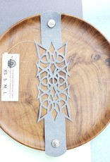 """Urban Lace """"Nyad"""" 7"""" Ultra Suede Cuff Snap Bracelet in Grey"""