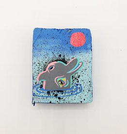 "Tiny Dolphin Painting 3"" X 2.5"" by Tripper Dungan"
