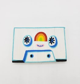 White Cassette Tape Rainbow Painting by Tripper Dungan