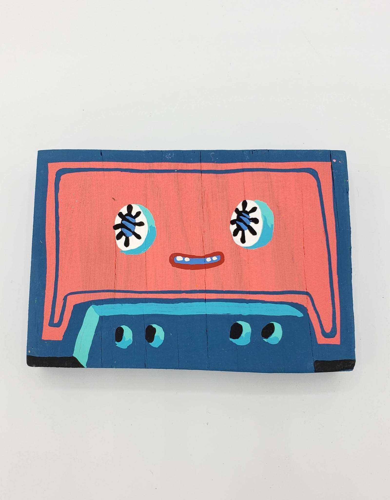 Pink & Blue Cassette Tape Painting by Tripper Dungan